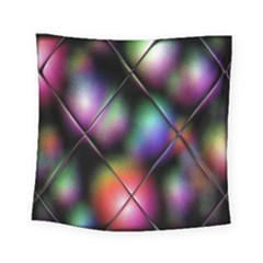 Soft Balls In Color Behind Glass Tile Square Tapestry (small)