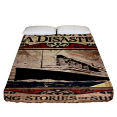 Titanic Fitted Sheet (king Size) by Valentinaart