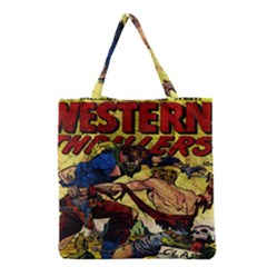 Western Thrillers Grocery Tote Bag by Valentinaart