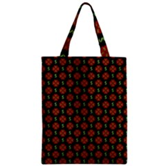 Dollar Sign Graphic Pattern Zipper Classic Tote Bag by dflcprints