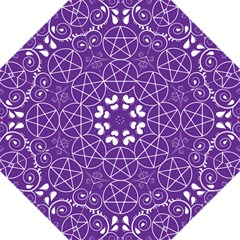 Purple With White Pagan Pentacle Wiccan Folding Umbrella by cheekywitch