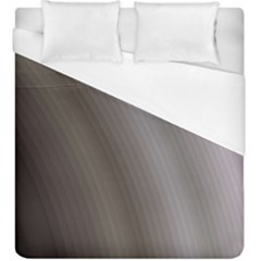 Fractal Background With Grey Ripples Duvet Cover (king Size) by Simbadda