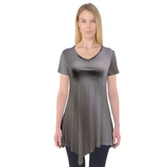 Fractal Background With Grey Ripples Short Sleeve Tunic