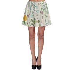 Floral Kraft Seamless Pattern Skater Skirt by Simbadda