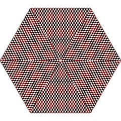 Squares Red Background Mini Folding Umbrellas by Simbadda
