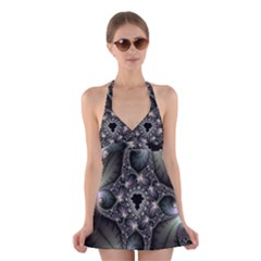 Magic Swirl Halter Swimsuit Dress by Simbadda