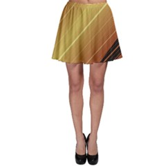 Diagonal Color Fractal Stripes In 3d Glass Frame Skater Skirt by Simbadda