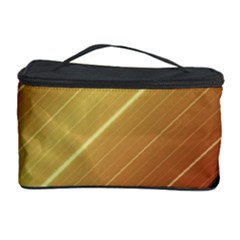 Diagonal Color Fractal Stripes In 3d Glass Frame Cosmetic Storage Case