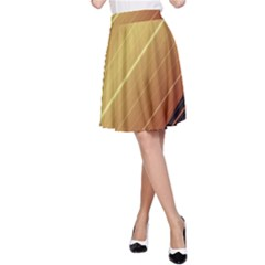 Diagonal Color Fractal Stripes In 3d Glass Frame A Line Skirt by Simbadda