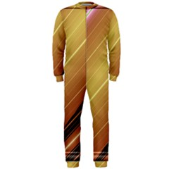 Diagonal Color Fractal Stripes In 3d Glass Frame Onepiece Jumpsuit (men)  by Simbadda