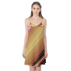 Diagonal Color Fractal Stripes In 3d Glass Frame Camis Nightgown