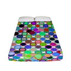 Colorful Dots Balls On White Background Fitted Sheet (full/ Double Size) by Simbadda