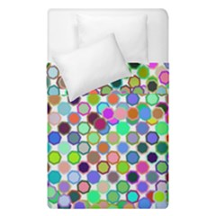 Colorful Dots Balls On White Background Duvet Cover Double Side (single Size) by Simbadda