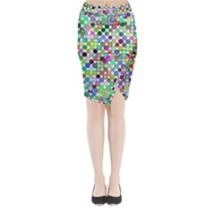 Colorful Dots Balls On White Background Midi Wrap Pencil Skirt
