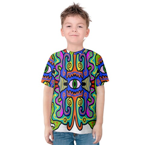 Abstract Shape Doodle Thing Kids  Cotton Tee by Simbadda