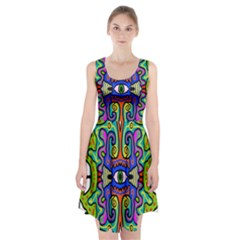 Abstract Shape Doodle Thing Racerback Midi Dress