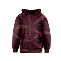 Red Ribbon Effect Newtonian Fractal Kids  Pullover Hoodie
