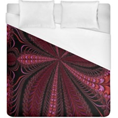 Red Ribbon Effect Newtonian Fractal Duvet Cover (king Size)