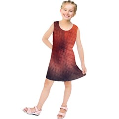 Background Technical Design With Orange Colors And Details Kids  Tunic Dress