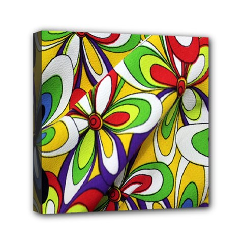 Colorful Textile Background Mini Canvas 6  X 6  by Simbadda