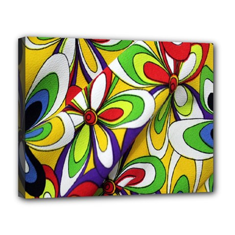 Colorful Textile Background Canvas 14  X 11  by Simbadda