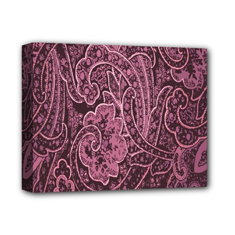 Abstract Purple Background Natural Motive Deluxe Canvas 14  X 11  by Simbadda