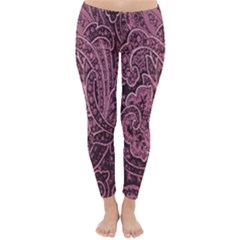 Abstract Purple Background Natural Motive Classic Winter Leggings