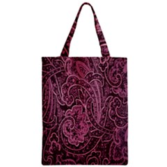 Abstract Purple Background Natural Motive Zipper Classic Tote Bag by Simbadda