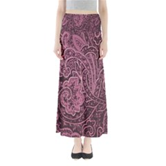 Abstract Purple Background Natural Motive Maxi Skirts