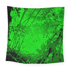 Leaf Outline Abstract Square Tapestry (large)