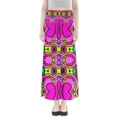 Colourful Abstract Background Design Pattern Maxi Skirts
