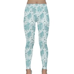 Decorative Floral Paisley Pattern Classic Yoga Leggings by TastefulDesigns