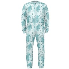 Decorative Floral Paisley Pattern Onepiece Jumpsuit (men)  by TastefulDesigns