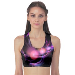 Fractal Image Of Pink Balls Whooshing Into The Distance Sports Bra by Simbadda