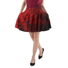 A Large Background With A Burst Design And Lots Of Details A Line Pocket Skirt by Simbadda