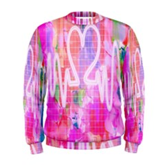 Watercolour Heartbeat Monitor Men s Sweatshirt by Simbadda
