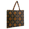 Abstract Daisies Zipper Large Tote Bag View2