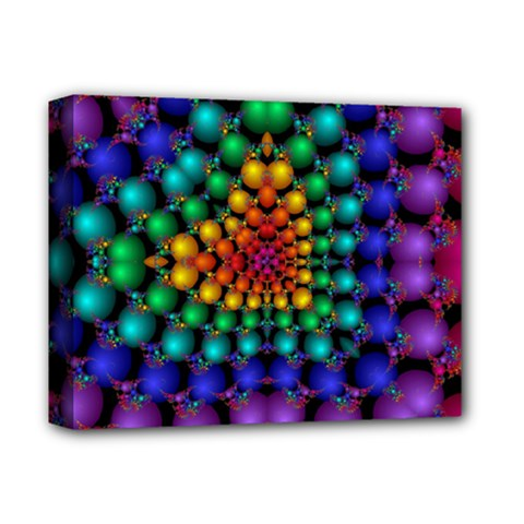 Mirror Fractal Balls On Black Background Deluxe Canvas 14  X 11  by Simbadda