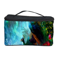 Beautiful Peacock Colorful Cosmetic Storage Case by Simbadda