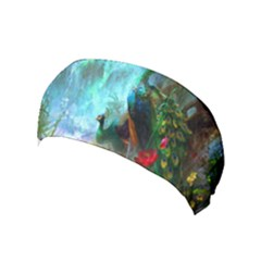 Beautiful Peacock Colorful Yoga Headband