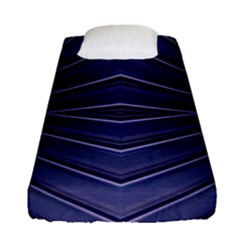 Blue Metal Abstract Alternative Version Fitted Sheet (single Size)