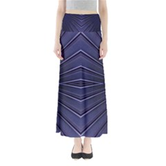 Blue Metal Abstract Alternative Version Maxi Skirts