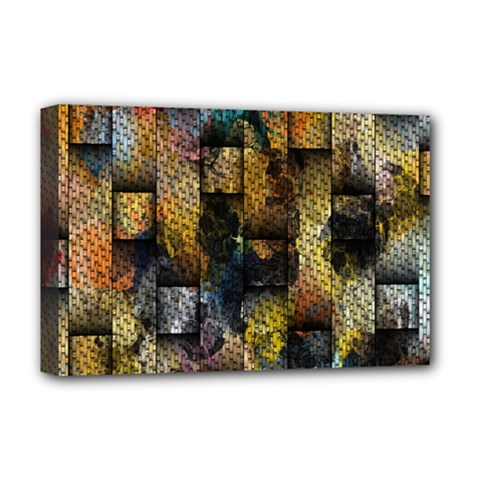 Fabric Weave Deluxe Canvas 18  X 12   by Simbadda