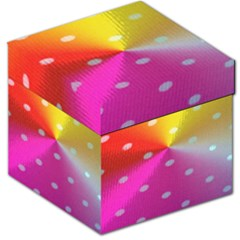 Polka Dots Pattern Colorful Colors Storage Stool 12