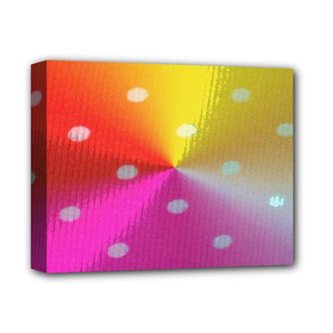 Polka Dots Pattern Colorful Colors Deluxe Canvas 14  X 11  by Simbadda