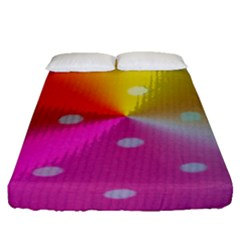 Polka Dots Pattern Colorful Colors Fitted Sheet (queen Size)