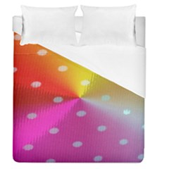 Polka Dots Pattern Colorful Colors Duvet Cover (queen Size) by Simbadda