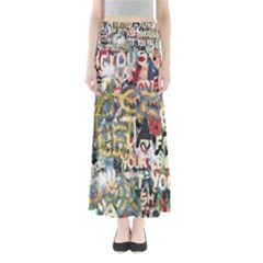 Graffiti Wall Pattern Background Maxi Skirts