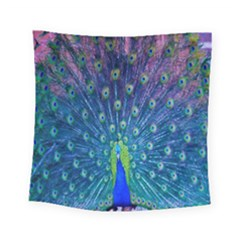 Amazing Peacock Square Tapestry (small)
