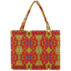 Abstract Background Design With Doodle Hearts Mini Tote Bag